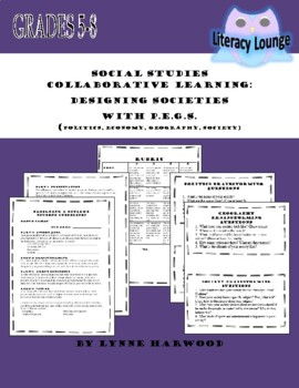 PEGS (Politics, Economics, Geography, Social) Project:  Design a Society
