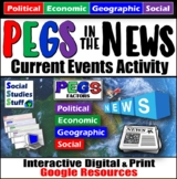 PEGS in the News Current Events Digital Activity for Google Drive