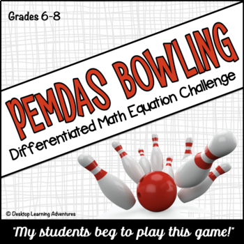 PEMDAS (Order of Operations) Bowling Computation Game