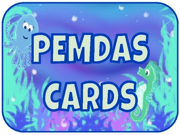PEMDAS CARDS Ocean Theme