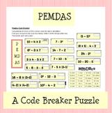 PEMDAS Code Breaker Puzzle