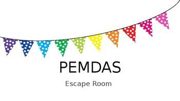 PEMDAS Escape Room
