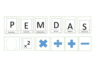 PEMDAS Foldable