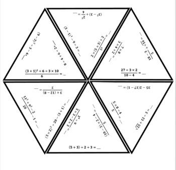 PEMDAS Hexagon Puzzle