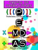 PEMDAS - Orden de Operaciones Poster en Español