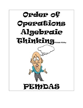 PEMDAS Order of Operations Algebraic Thinking Posters