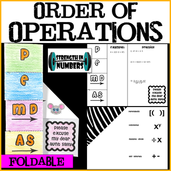 PEMDAS Order of Operations Big Foldable Notes Interactive Notebook