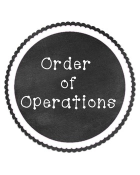 PEMDAS Order of Operations Classroom Display Chalkboard Style