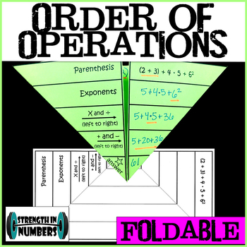 PEMDAS Order of Operations Foldable for Interactive Notebook