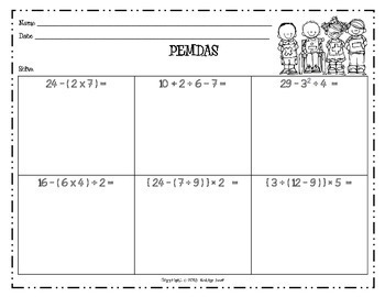 PEMDAS - Order of Operations Game