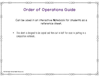 PEMDAS - Order of Operations Guide