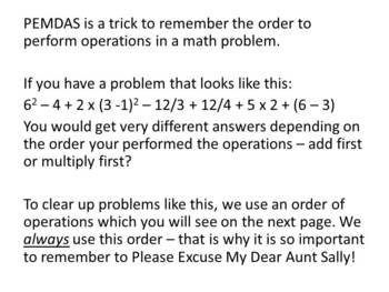 PEMDAS - Order of Operations - Introduction/Group Practice/Individual Practice