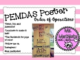 PEMDAS- Order of Operations Poster