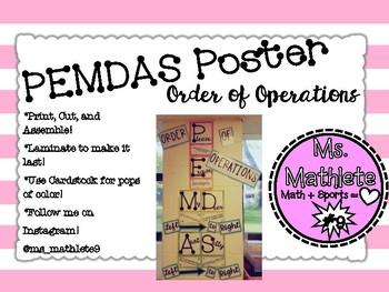 PEMDAS- Order of Operations Poster