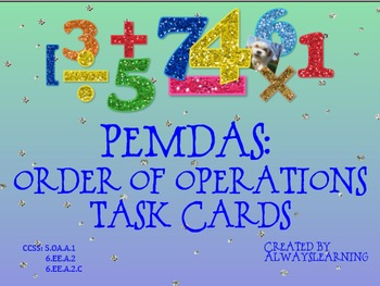 PEMDAS: Order of Operations Task Cards