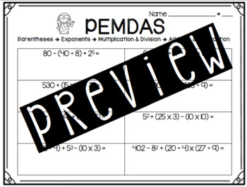 PEMDAS Packet