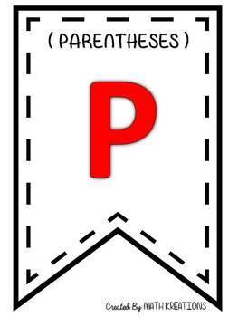PEMDAS | Posters | Pennant Banner