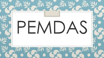 PEMDAS PowerPoint