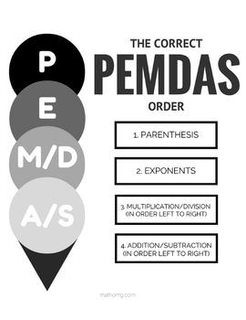 PEMDAS Printable