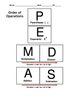 PEMDAS Pyramid