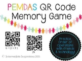 PEMDAS QR Code Memory Game (order of operations)