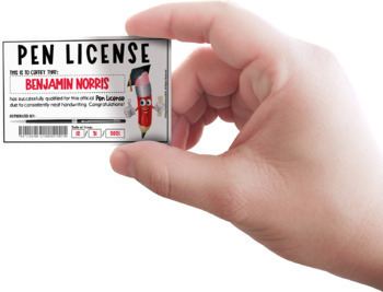 Pen Licences - Tabloid Size - PDF (8pp)