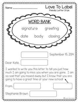 Pen Pals (Friendly Letter Writing)