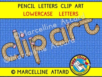 PENCIL ALPHABET CLIPART (BACK TO SCHOOL CLIPART)