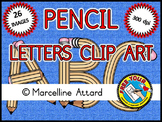 BACK TO SCHOOL CLIPART (PENCILS ALPHABET LETTERS CLIP ART)
