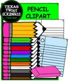 PENCIL CLIPART {Texas Twist Scribbles}