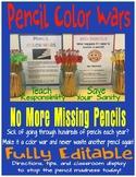 PENCIL COLOR WARS: Never lose a pencil again!