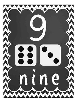 PENCIL Chevon Basic Skills Poster Pack (Alphabet, Shapes, Colors, Money, & More)