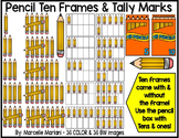 Place value clipart & ten frames-Counting pencils clipart