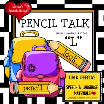 """PENCILS ARTICULATION SPEECH THERAPY """"L"""""""