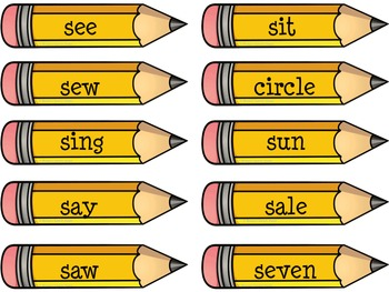 PENCILS ARTICULATION SPEECH THERAPY /s/ worksheets
