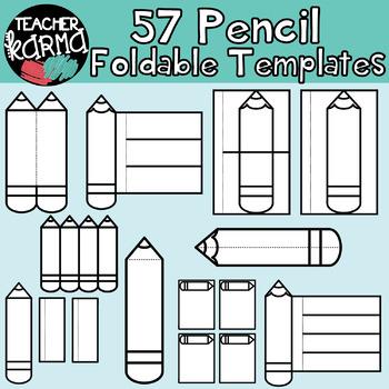 pencils writing foldables interactives flip book templates