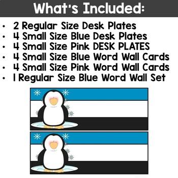 Penguin Desk Plate Freebie