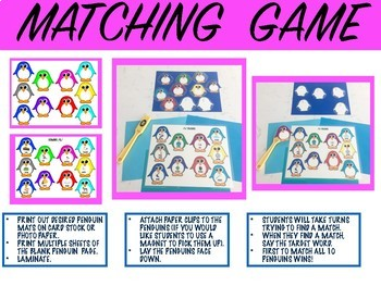 PENGUIN PILE-UP, GAME COMPANION, ARTICULATION (SPEECH & LANGUAGE THERAPY)