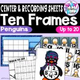 Penguin Ten Frames 0-20 ~Perfect for Mini-erasers!
