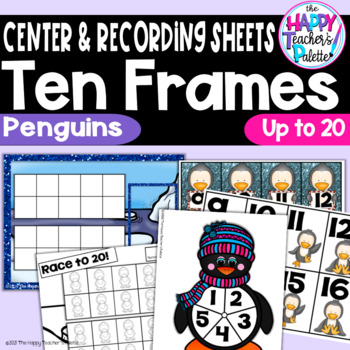 Penguin Ten Frames 0-20 ~Perfect for Mini-erasers!