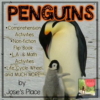 PENGUINS  Non-fiction Book with Math and Language Art Activities