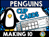 WINTER MATH CENTER (PENGUINS KINDERGARTEN MAKING 10 ACTIVI