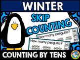 WINTER MATH CENTER KINDERGARTEN, 1ST GRADE (PENGUINS SKIP COUNTING BY 10'S)