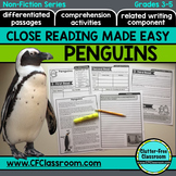 Penguins Close Reading Passages and Comprehension Questions