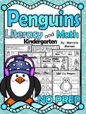 PENGUINS Literacy & Math No Prep Kindergarten 65+ Printables & Worksheets