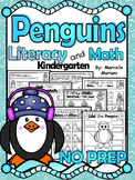 PENGUINS WORKSHEETS & ACTIVITIES FOR KINDERGARTEN (NO PREP)