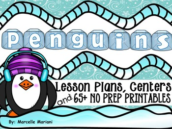 PENGUINS- literacy, math, science, and art fun- PENGUINS MEGA THEME PACK