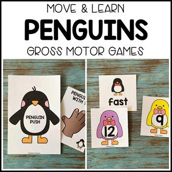 PENGUINS Move & Learn Gross Motor Games for Preschool, Pre-K, & Kinder
