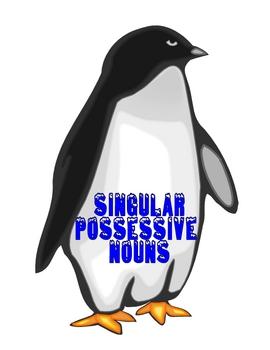 PENGUIN'S POSSESSIVE NOUNS File Folder Game Singular & Plural