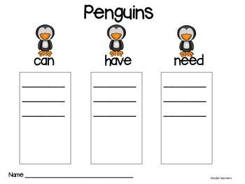 Penguin Reading Activities